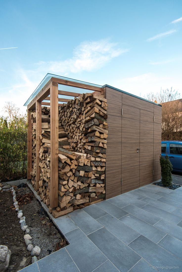 die besten 25 brennholz lagerung ideen auf pinterest. Black Bedroom Furniture Sets. Home Design Ideas