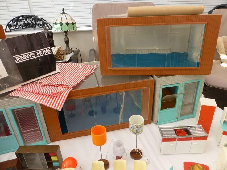 Lovely Jennys Home Vintage Dolls House, Dolls U0026 Tri Ang Furniture