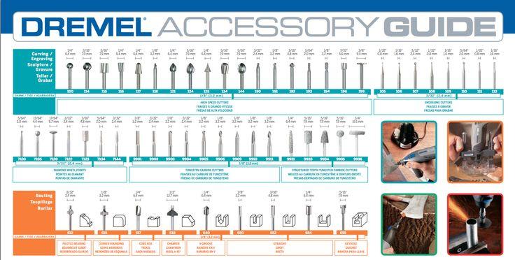 dremel accessory bit guide 1 3 dremel pinterest. Black Bedroom Furniture Sets. Home Design Ideas