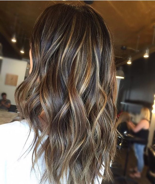 This Brunette Color by @hairbycourtneyk