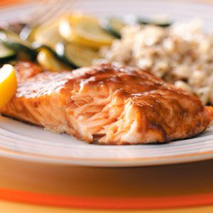 Brown Sugar Glazed Salmon Recipe     I (Sara) made this last night and it's the BEST salmon dish I've ever had (whether I made it, or a chef at a restaurant)!!! I'm not even a HUGE salmon lover, but this could easily become a weekly staple. My husband and I DOWNED it.