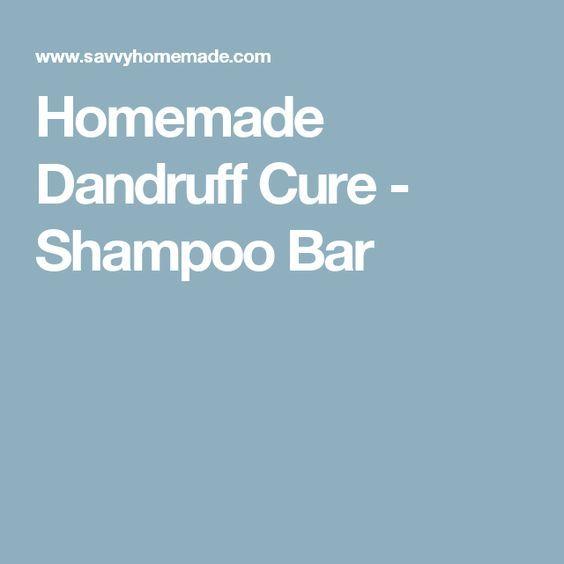 Homemade Dandruff Cure - Shampoo Bar