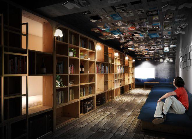 「泊まれる本屋」をコンセプトにした外国人観光客向けホステル「BOOK AND BED TOKYO」が、9月末に開業する。不動産情報サイトR-STOREを運営するアールストアとともに、谷尻誠と吉田愛が率いるSUPPOSE DESIGN OFFICEがデザイン、SHIBUYA PUBLISHING & BOOKSELLERSがブックセレクトを担当し、最高に幸せな「寝る瞬間」を提供するという。