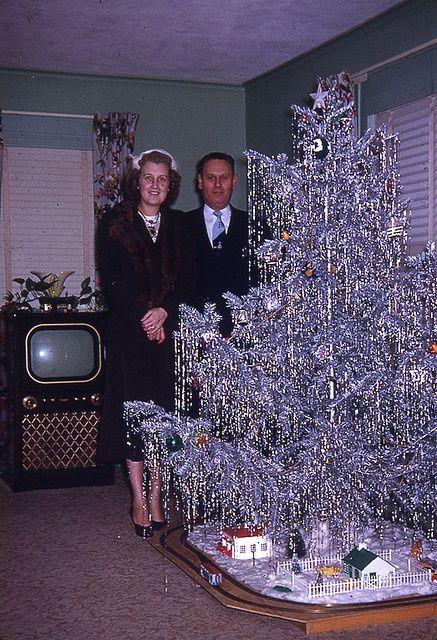Aluminum white mid century modern #christmas tree