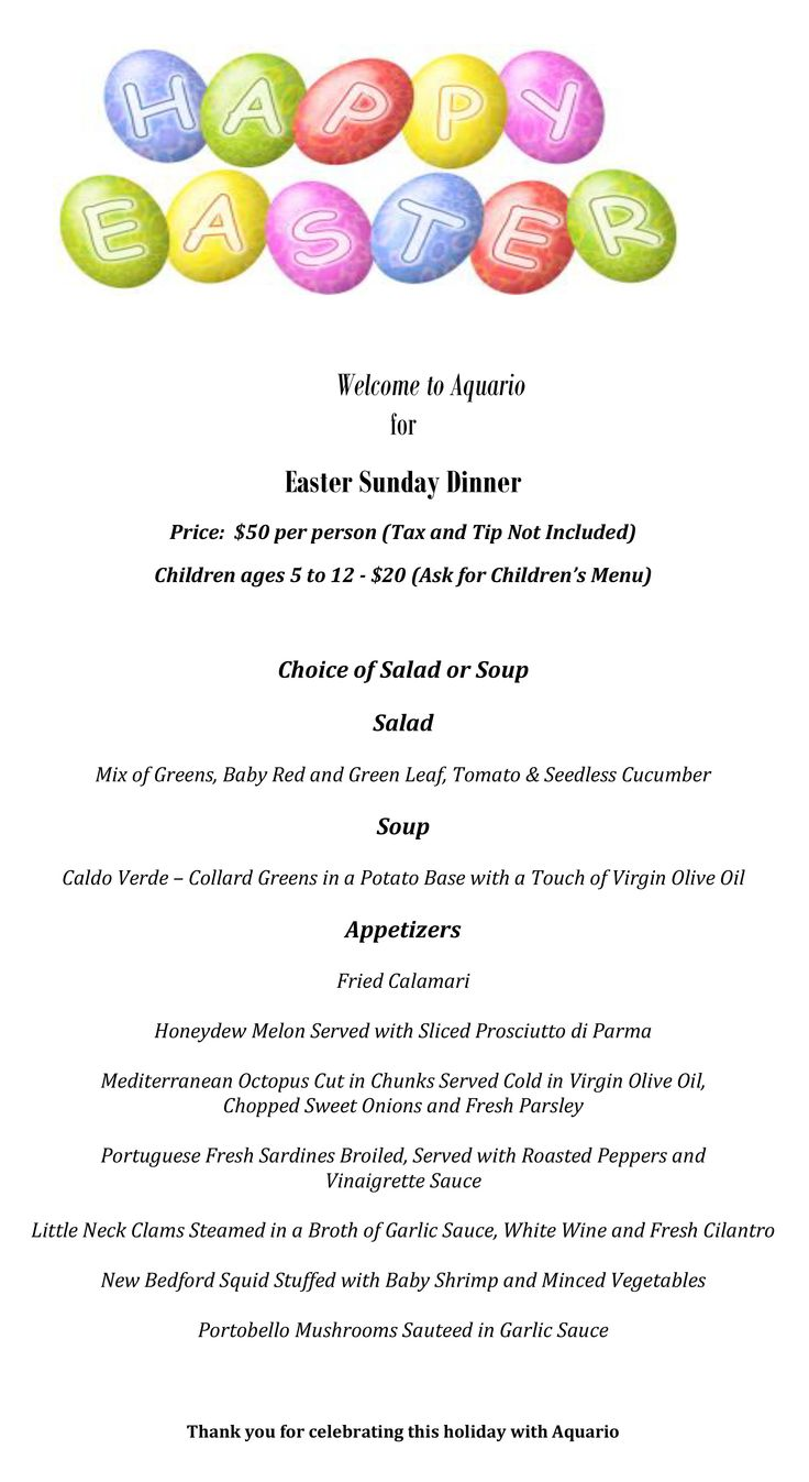 Images of Restaurants With Easter Specials - The Miracle of Easter