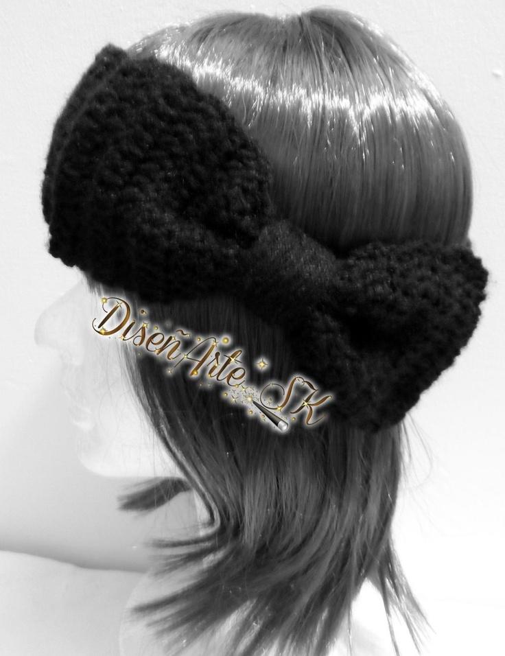 Cintillo lazo para Dama. #Crochet #Lana #Diseños se realiza de otros colores #encargoSK