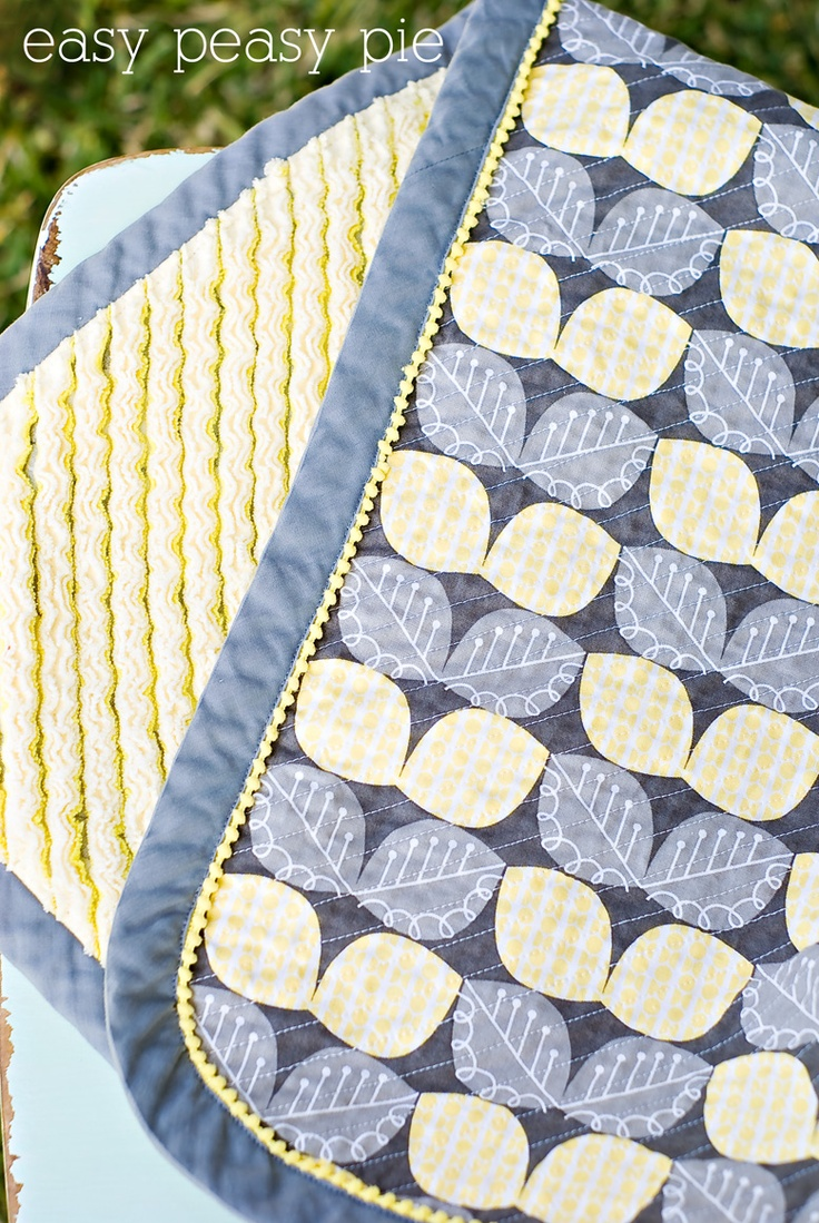 Easy Peasy Pie: Faux Chenille Baby Blanket