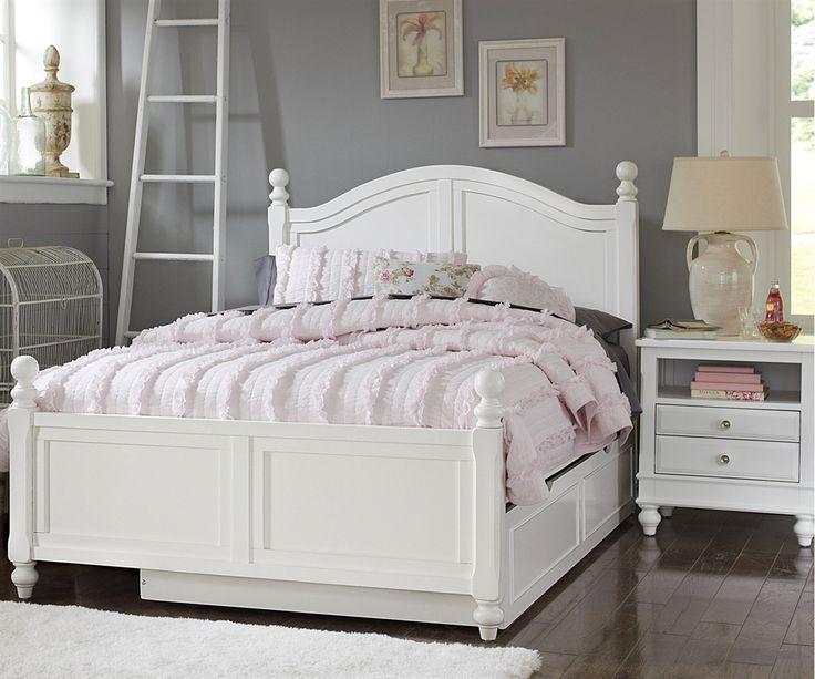 lakehouse payton full bed with trundle white ne kids ne1015 1570 - White Full Size Bed Frame