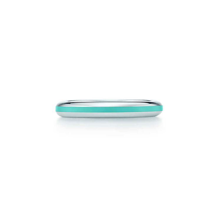 I love this!!  Also the cheapest thing I've ever seen from Tiffany & Co.  Band ring in sterling silver with Tiffany Blue® enamel finish.