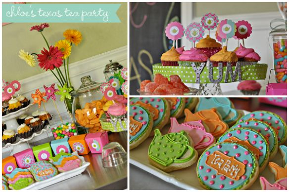 teaparty: Tea Party, Party'S, Teaparty, Teas, Tea Parties, Colorful Tea, Parties Kids, Party Ideas, Birthday Party