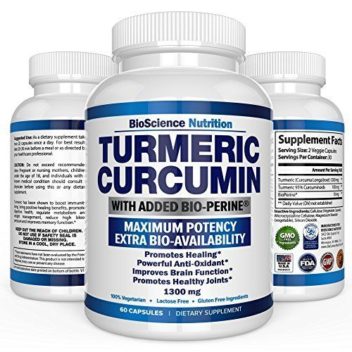 Turmeric Curcumin Ginger Capsules - 60 Organic root pills with Black Pepper. Quickly Absorbed Pure Ayurveda Bio Miracle