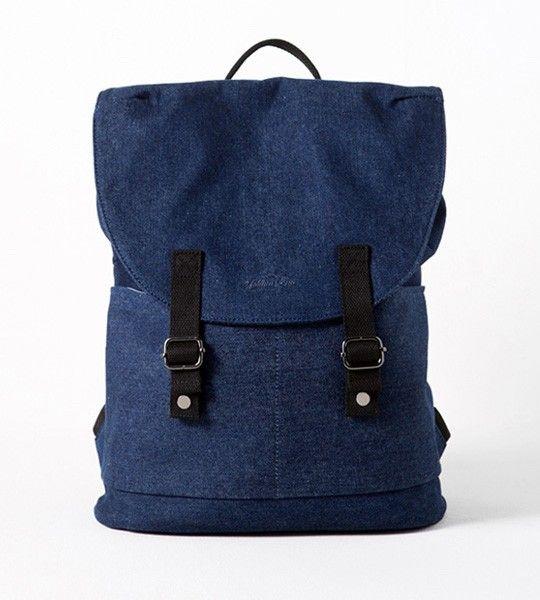 Джинсовый рюкзак для города Аляска синий