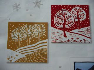 inky fingers: Christmas cards