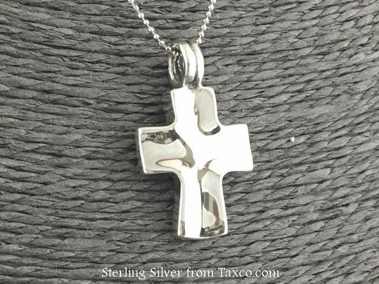 Small Santa Prisca Sterling Silver Cross Pendant