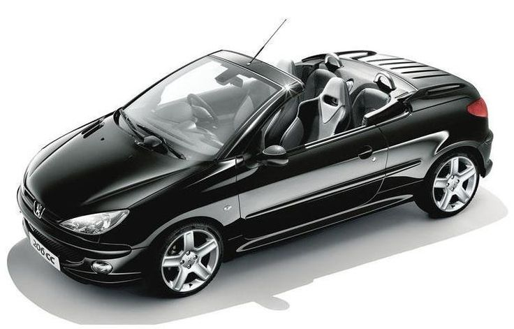 Peugeot 206cc in Black.... sexy, sleek, stylish and a hardtop to boot!