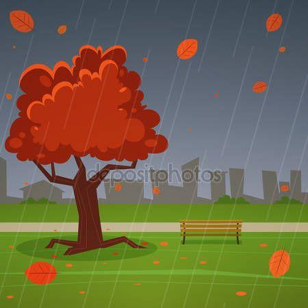 Jesień w parku — Ilustracja stockowa #59800639