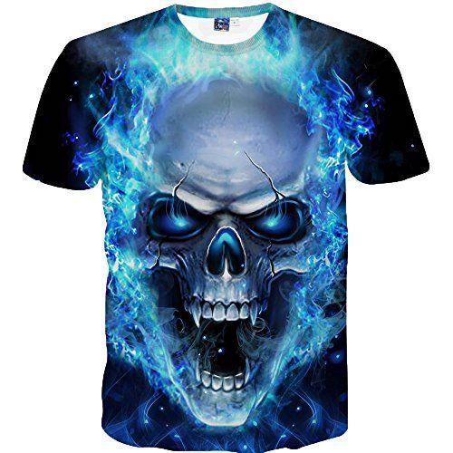 Kanpola Homme Tee Shirt Marque Impression Slim Fit Chemise /à Manches Courtes /ét/é Blouse