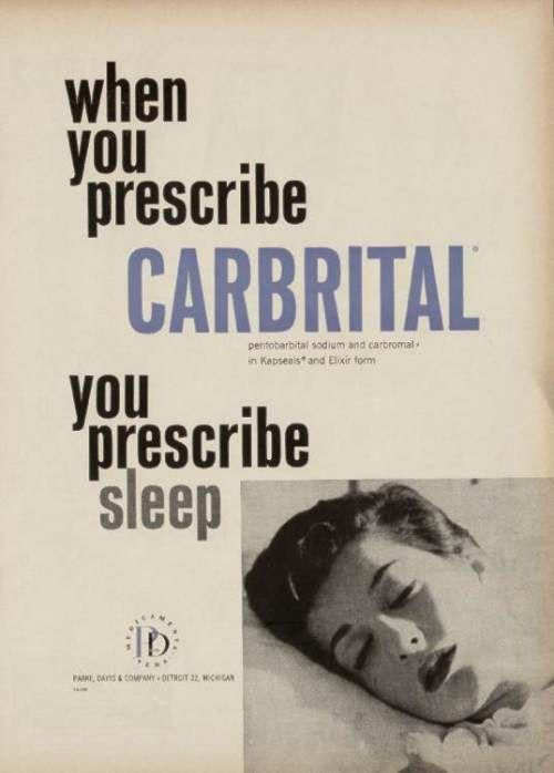 1959 advert. Tranquillizer/hypnotic: combination of pentobarbital & carbromal