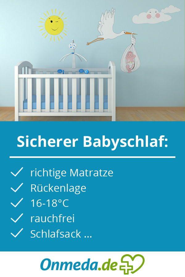 So Schlafen Babys Sicher Babymatratze Kindstod Und Baby Schlaft