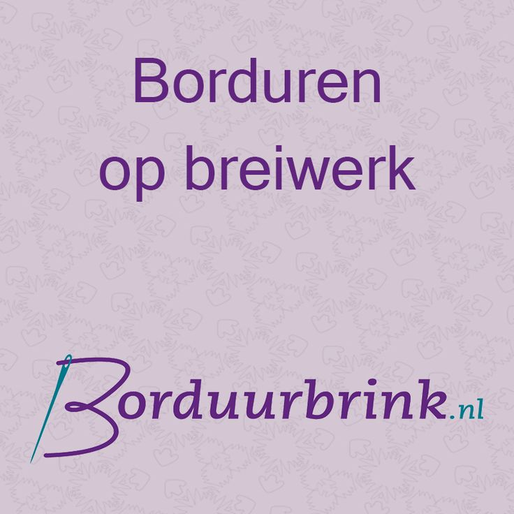 Borduurbrink.nl - Borduren op breiwerk
