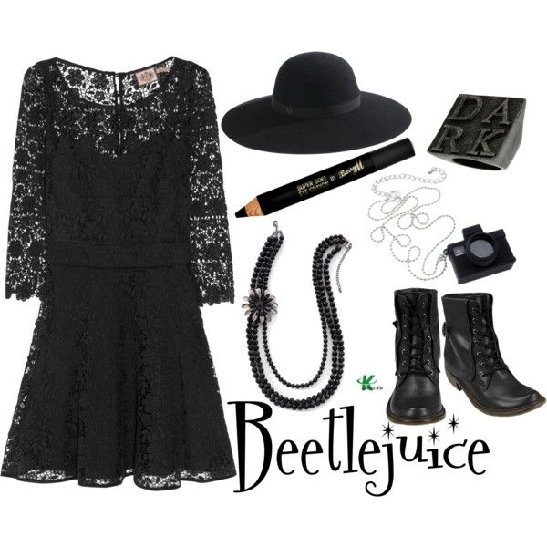 Inspired by Beetlejuice character Lydia Deetz played by Winona Ryder in the 1988 film.