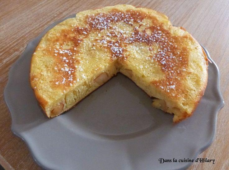 Dans la cuisine d'Hilary: Gâteau à la poêle aux pommes / Apple pan cake