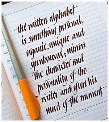 Lovely informal, black italic handwriting by Sachin Shah