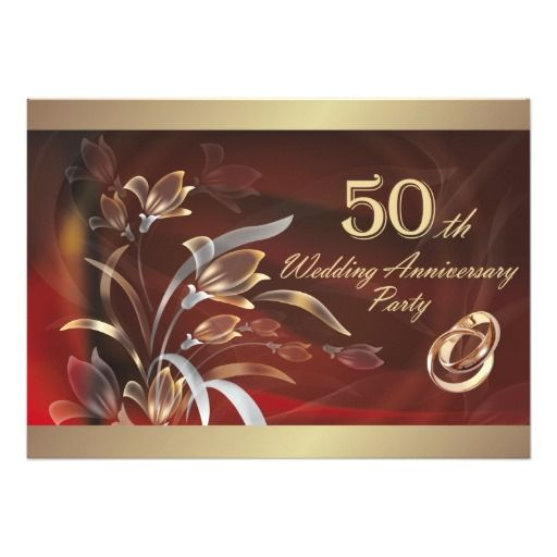 16 best 50th Anniversary Invitations images on Pinterest Birthday - fresh invitation samples for 50th wedding anniversary