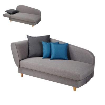 Mobilier - Salons Et Séjours - Canapés - Méridienne convertible + coffre LOLA tissu gris clair