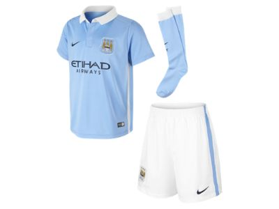 2015/16 Manchester City FC Stadium Home (3y-8y) Little Kids' Football Kit