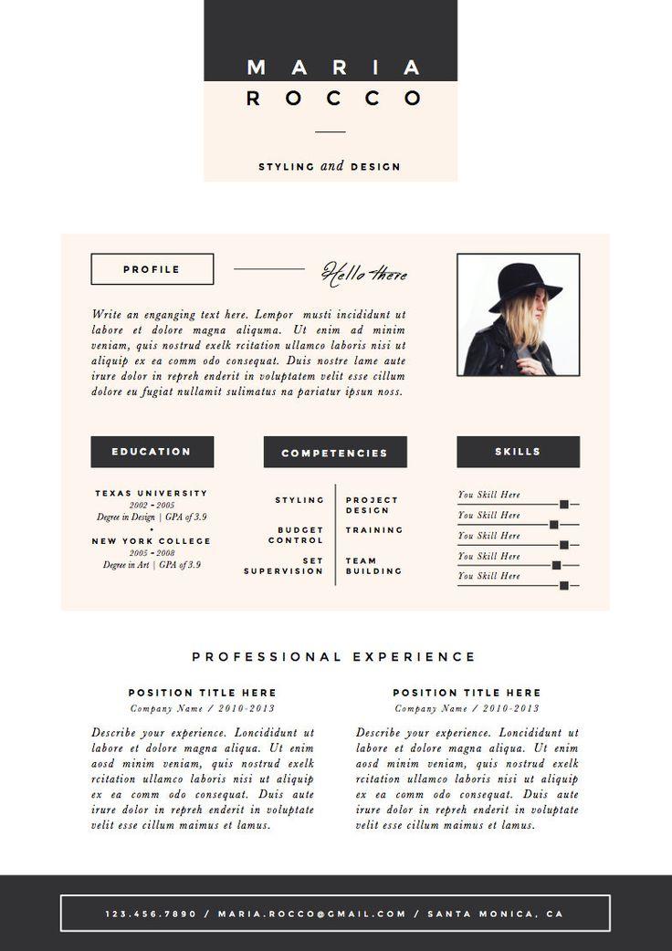 17  beste idee u00ebn over creatief cv ontwerp op pinterest