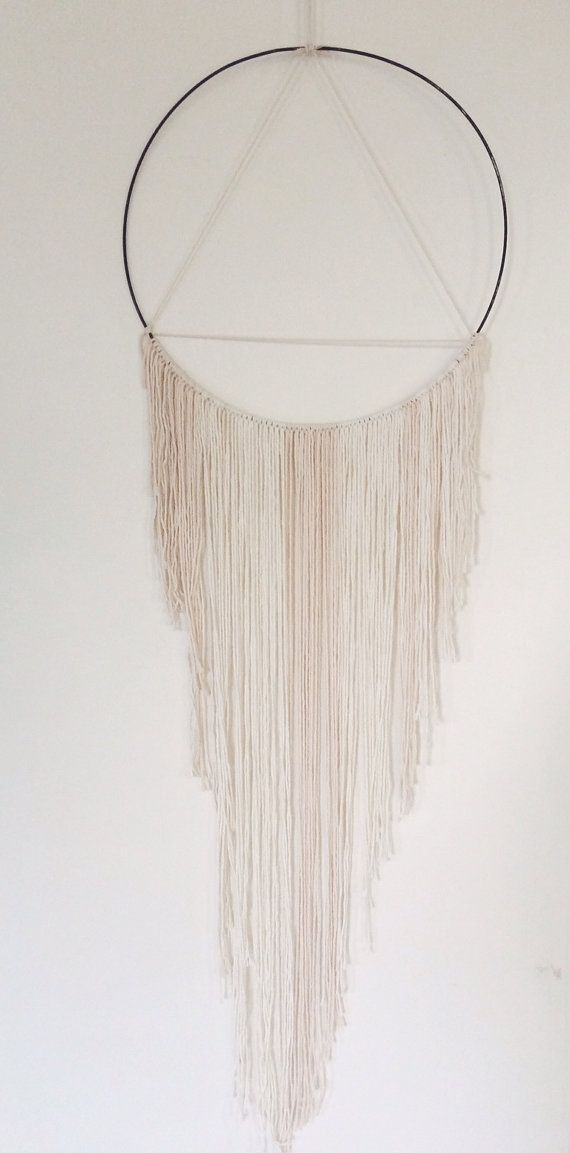 TRIANGLE MACRAMÉ DREAMCATCHER // wall hanging by bohemian harvest etsy.com/shop/bohemianharvest