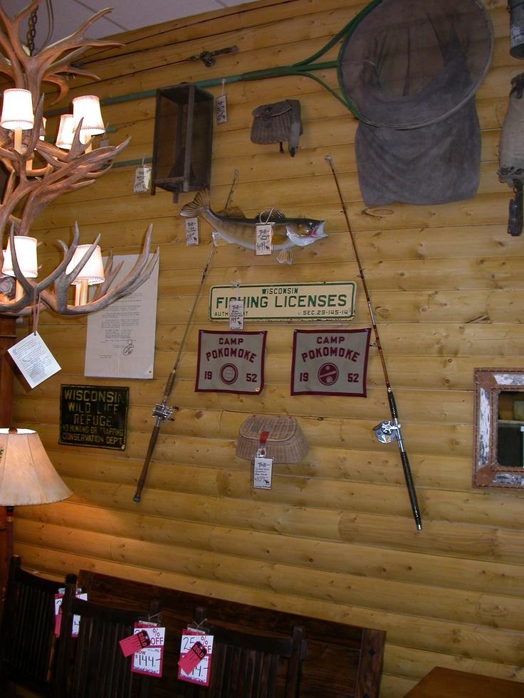 Fishing camp decor cabin interior true north portfolio for Decoration e