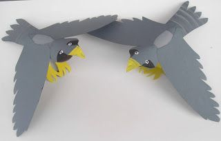 Crack of Dawn Crafts  Make a Flying Falcon  Paper Tube Craft and Game