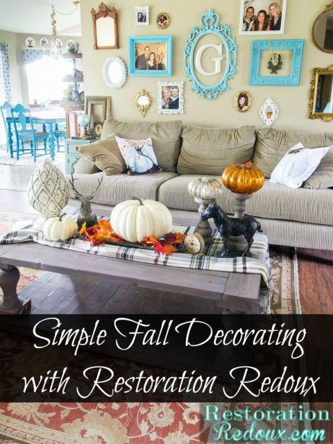 Simple Fall Decorating   Restoration Redoux
