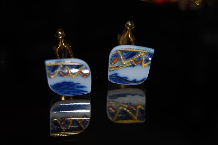 pieces of antique broken JAPAN porcelain