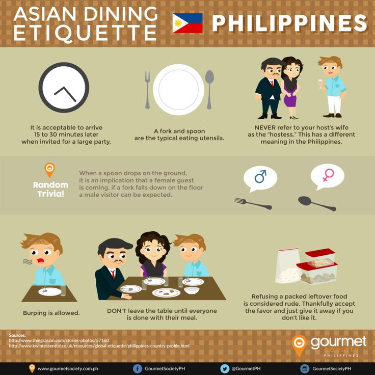 Filipino Food Dining Etiquette | Gourmet Society has sent me their infographic about Filipino Food Dining Etiquette. I thought it's funny and really...