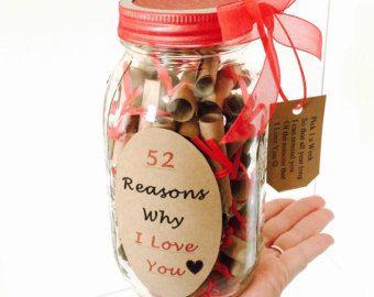 52 Gründe warum ich dich Geschenk in einem Glas von TheBumbleComb