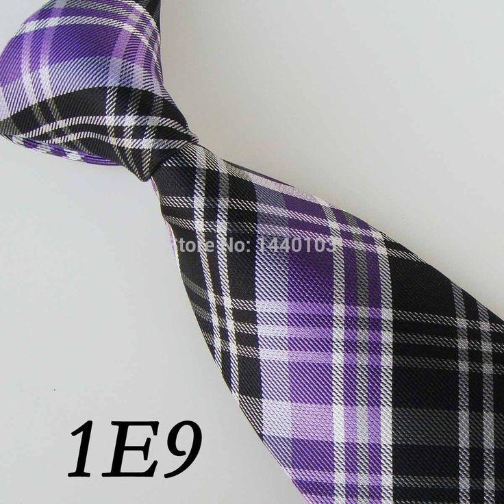 Стиль перевязка человек сирень / белый / черный сетка полоска дизайн / Vestido де феста / свободного покроя платье / Blusa / подарок для мужчины галстук для мужчины