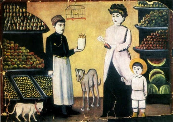 Fruit Stall by Niko Pirosmani