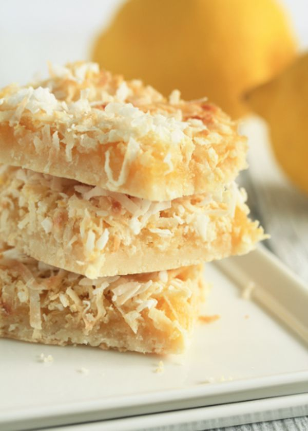 Coconut Lemon Bars Gf Df These Bars Will Transport You To The Tropics Tart Lemon Chewy Coconut Lemon Coconut Bars Foodie Recipes Food Processor Recipes