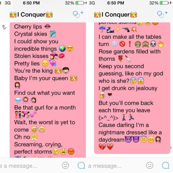 song lyrics using emojis to flirt