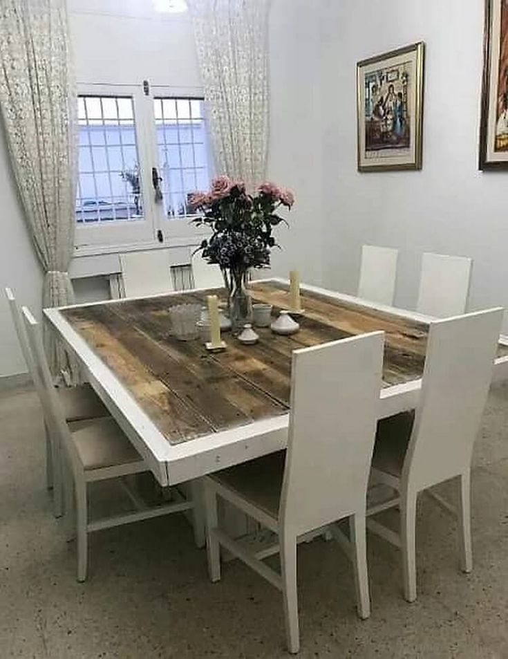 Furthermore, in so many creative ideas of old wooden pallets we would perfectly be making you learn about the simple creation of the old wooden pallet dining table as for your household purposes. It is shaded with the white hues of paint work that do make it come up with the elegant variations.