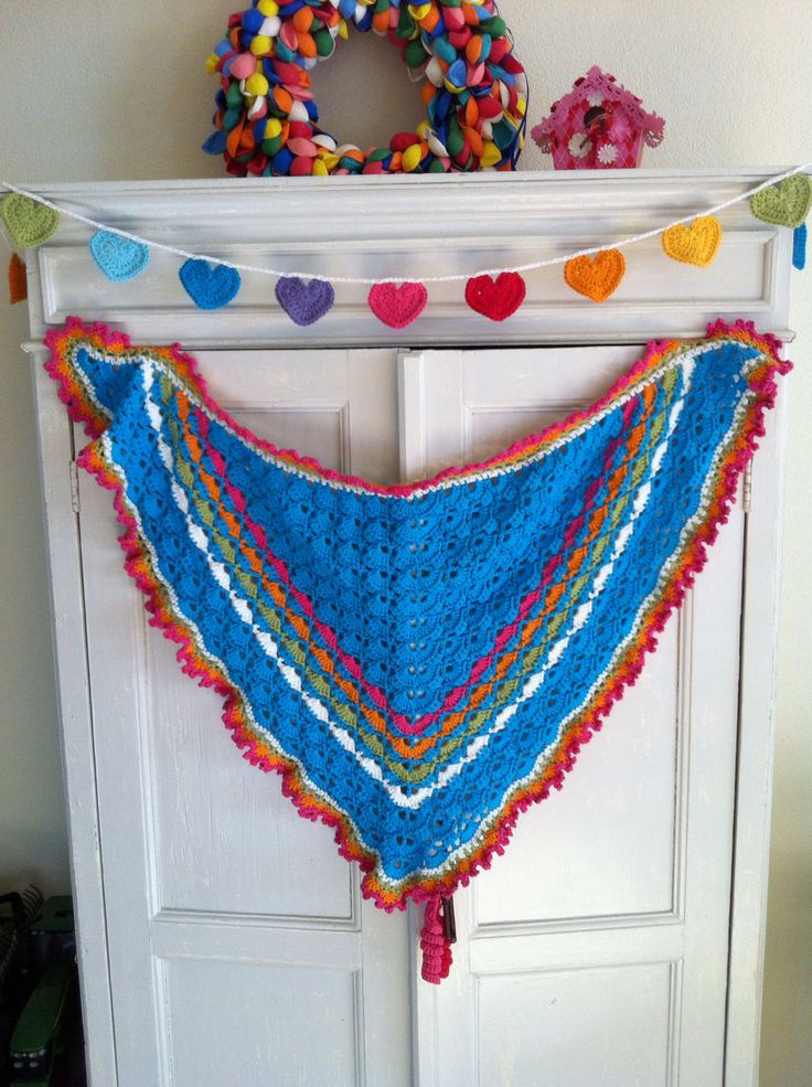 South Bay Shawlette, omslagdoek, haken, crochet, scarf