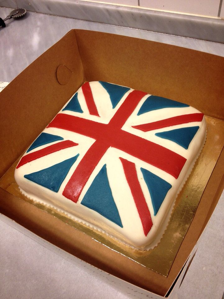 A cake I did for a customer who had family visiting from England. The cake is covered in marzipan.