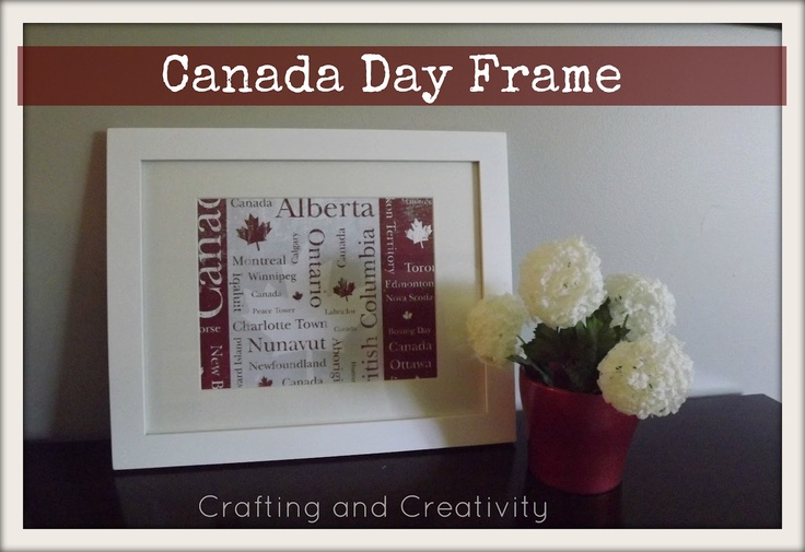 crafting and creativity: Canada Day Frame