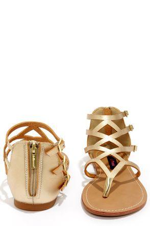 Dollhouse Athens Gold Gladiator Sandals