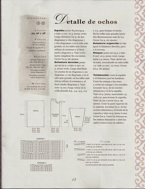 Instrucciones de chaleco