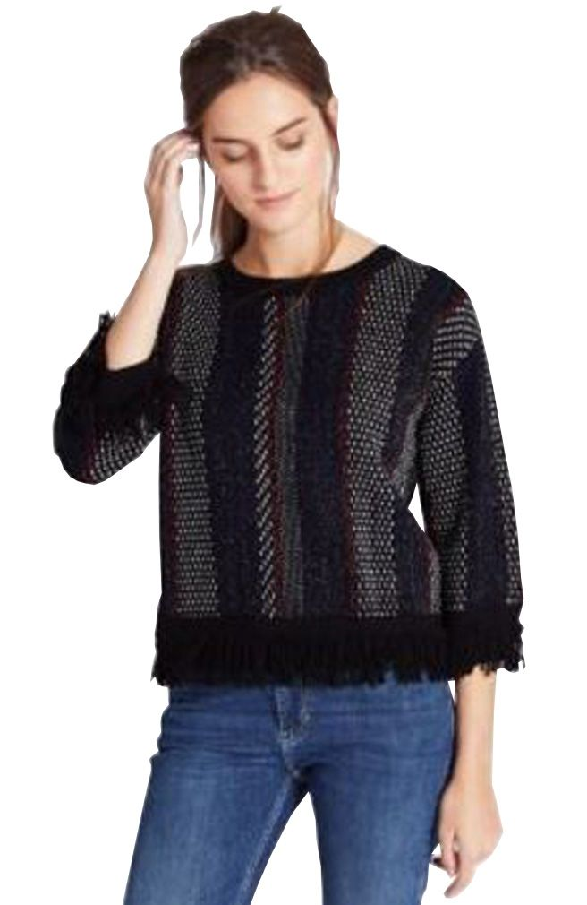 MARKS & SPENCER COLLECTION Crew Neck Vertical Stripe Jumper T38/6927.  Large & X-Large  MRRP: £45.00GBP - AVI Price: £19.99GBP