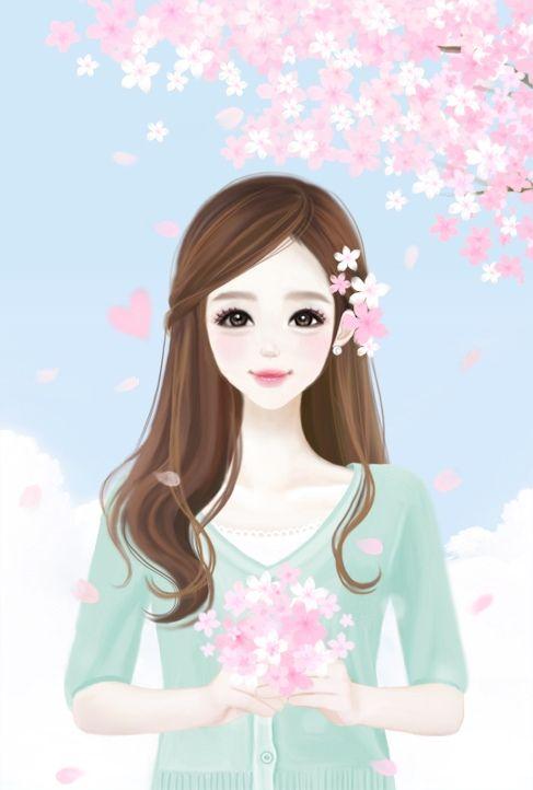 Bacotan si dilacious: :: Cute Animated Girl Cartoon ~ ( ‿ )